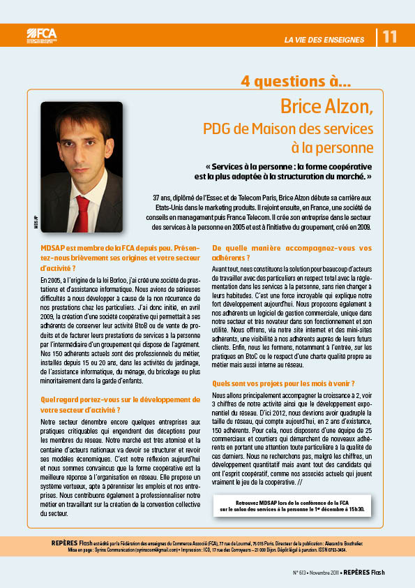 brice alzon MDSAP article FCA