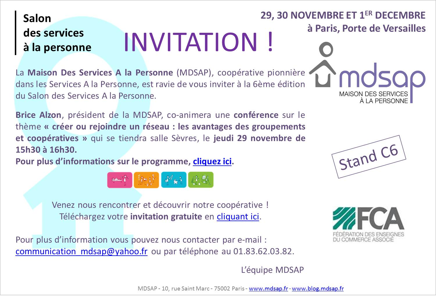 Invitation mdsap au salon des services a la personne - Salon de l agriculture invitation gratuite ...